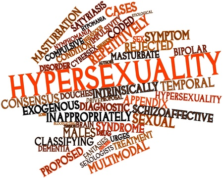 Abstract word cloud for Hypersexuality with related tags and terms Stock Photo - 16603289