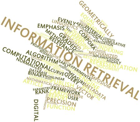 Abstract word cloud for Information retrieval with related tags and terms Stock Photo - 16602409