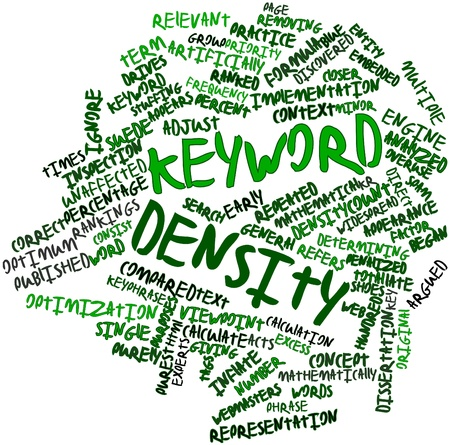 Abstract word cloud for Keyword density with related tags and terms