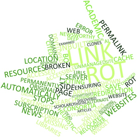 forwards: Abstract word cloud for Link rot with related tags and terms
