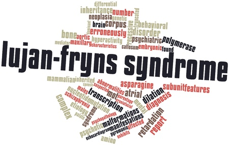 Abstract word cloud for Lujan-Fryns syndrome with related tags and terms Stock Photo - 16601995