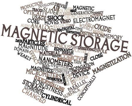 micrometers: Abstract word cloud for Magnetic storage with related tags and terms