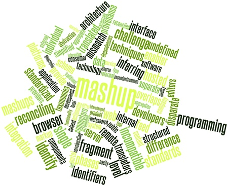 incompatible: Abstract word cloud for Mashup with related tags and terms