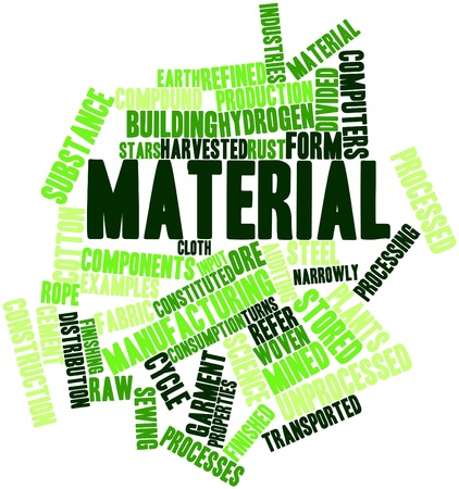 narrowly: Abstract word cloud for Material with related tags and terms Stock Photo