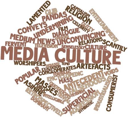 inteligible: Nube palabra abstracta para la cultura mediática con las etiquetas y términos relacionados