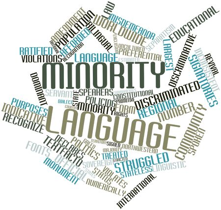 northwestern: Abstract word cloud for Minority language with related tags and terms