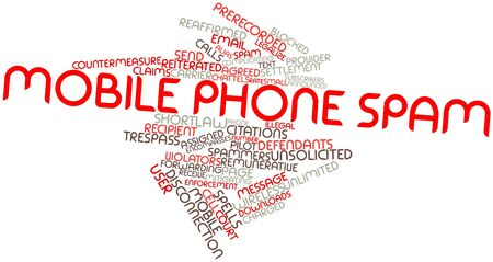 unsolicited: Abstract word cloud for Mobile phone spam with related tags and terms