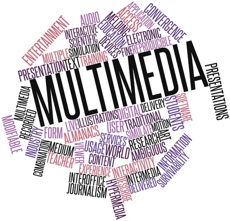 Abstract word cloud for Multimedia with related tags and terms Stock Photo - 16603385