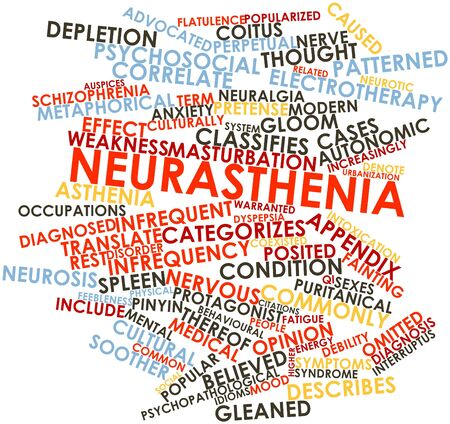 Abstract word cloud for Neurasthenia with related tags and terms