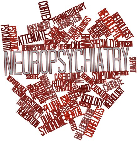 Abstract word cloud for Neuropsychiatry with related tags and terms Stock Photo - 16603419