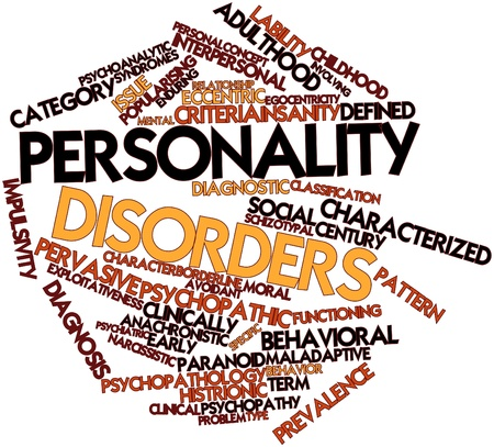 Abstract word cloud for Personality disorders with related tags and terms Stock Photo - 16603280