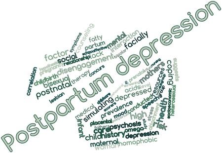stark: Abstraktes Wort-Wolke f�r Postpartum Depression mit verwandte Tags und Begriffe