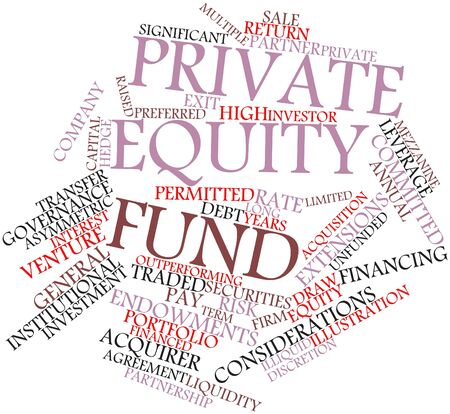 inception: Abstract word cloud for Private equity fund with related tags and terms