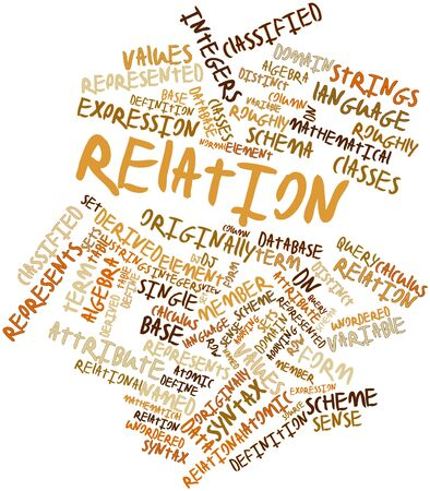 distinct: Abstract word cloud for Relation with related tags and terms