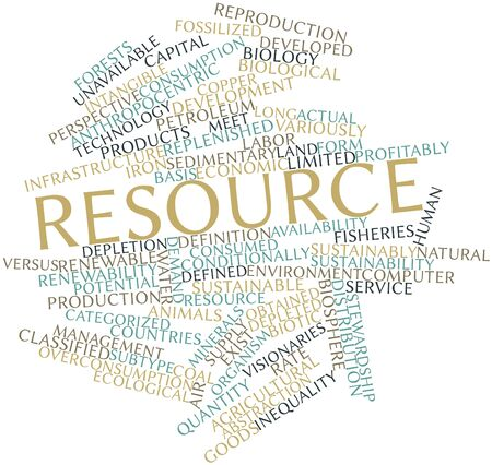 Abstract word cloud for Resource with related tags and terms Stock Photo - 16602748