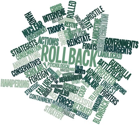 Abstract word cloud for Rollback with related tags and terms Stock Photo - 16603396
