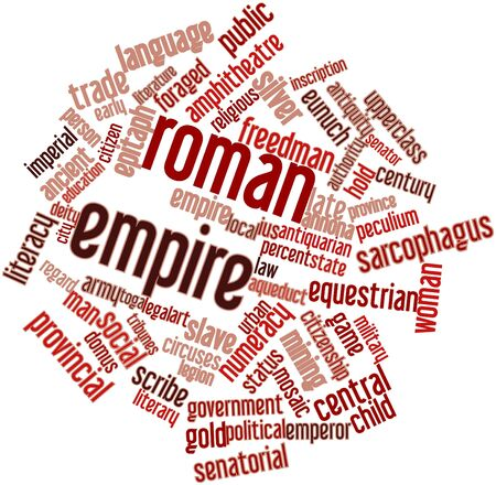 Abstract word cloud for Roman Empire with related tags and terms Stock Photo - 16603387