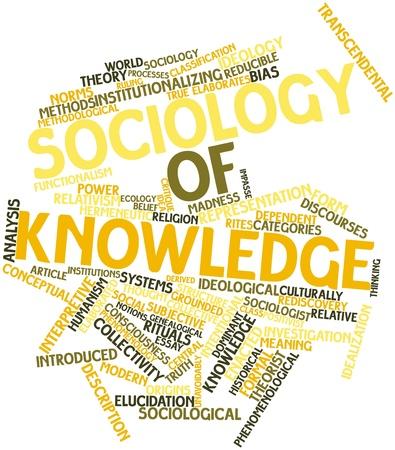 sociologia: Nube de palabras Resumen de Sociología del conocimiento con las etiquetas y términos relacionados