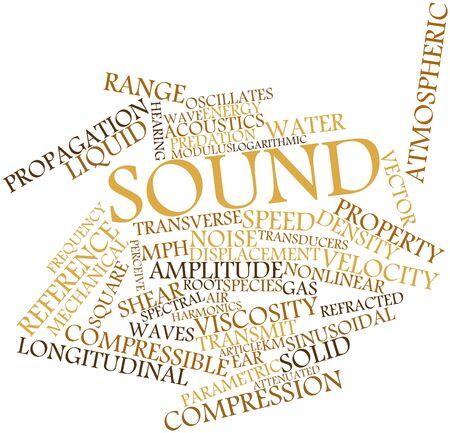 determines: Word cloud astratto per audio con tag correlati e termini