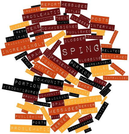 popularized: Abstract word cloud for Sping with related tags and terms Stock Photo