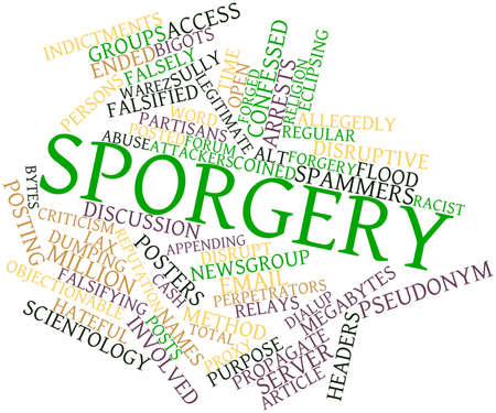 intent: Abstract word cloud for Sporgery with related tags and terms