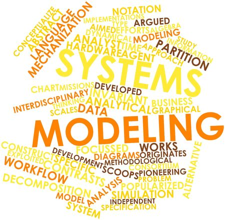 Abstract word cloud for Systems modeling with related tags and terms