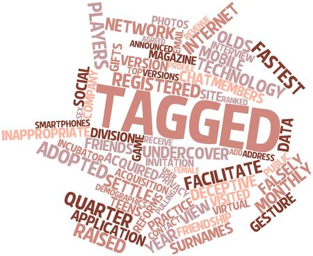 Abstract word cloud for Tagged with related tags and terms Stock Photo - 16602424