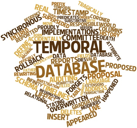 temporal: Abstract word cloud for Temporal database with related tags and terms