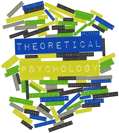 perceptual: Abstract word cloud for Theoretical psychology with related tags and terms