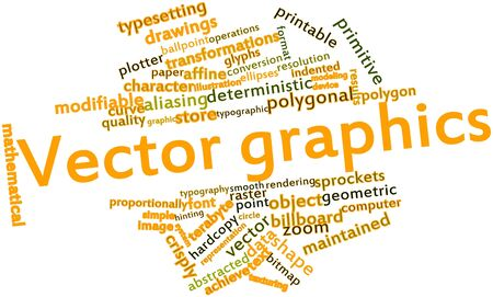 terabyte: Abstract word cloud for Vector graphics with related tags and terms