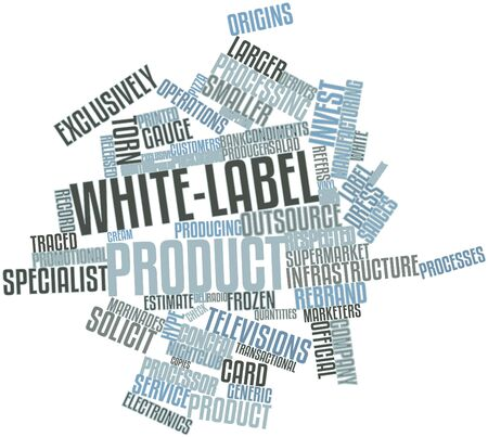 instance: Abstract word cloud for White-label product with related tags and terms