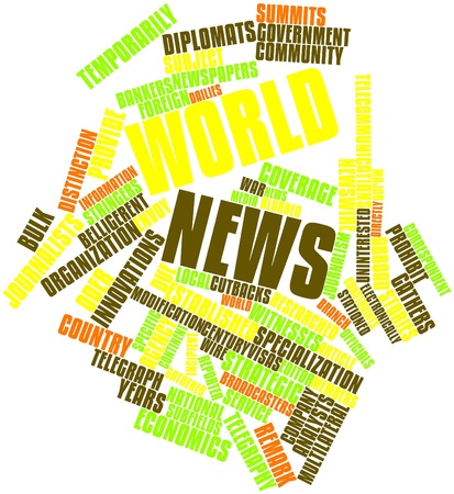 world news: Abstract word cloud for World news with related tags and terms