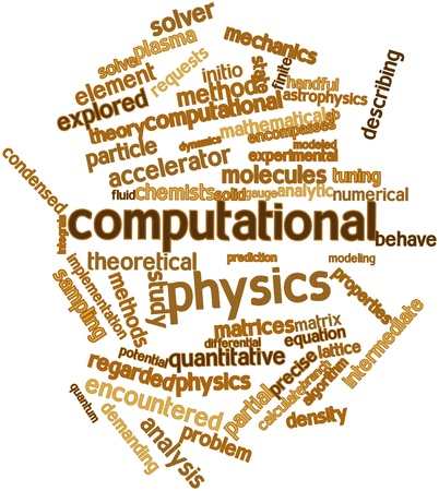 matrices: Abstract word cloud for Computational physics with related tags and terms