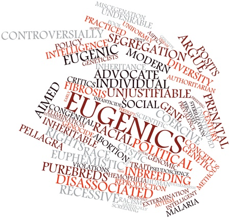 sterilization: Abstract word cloud for Eugenics with related tags and terms