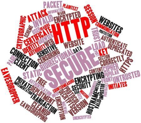 intervening: Abstract word cloud for HTTP Secure with related tags and terms
