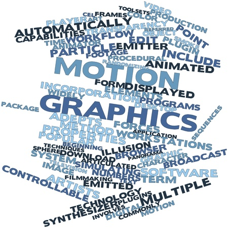 animator: Abstract word cloud for Motion graphics with related tags and terms