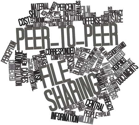 sensitive: Abstract word cloud for Peer-to-peer file sharing with related tags and terms