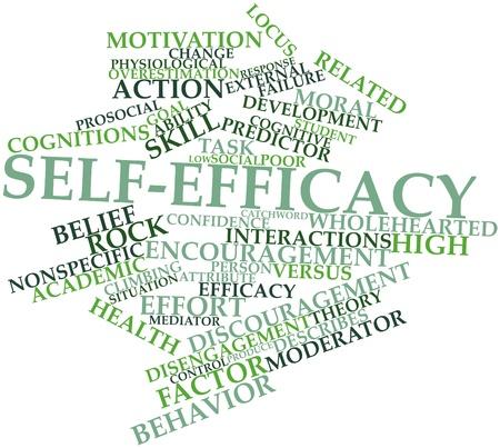observational: Nube palabra abstracta para auto-eficacia con las etiquetas y t�rminos relacionados