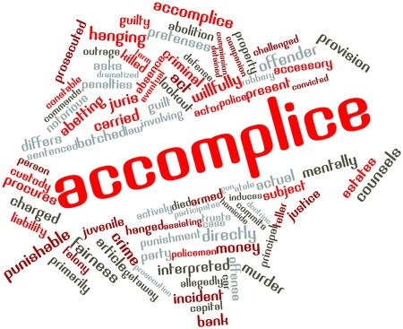 Abstract word cloud for Accomplice with related tags and terms Stock Photo - 16617551