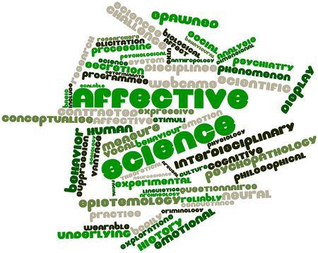 epistemology: Abstract word cloud for Affective science with related tags and terms