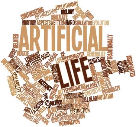 関連するタグと用語と人工生命の抽象的な単語雲