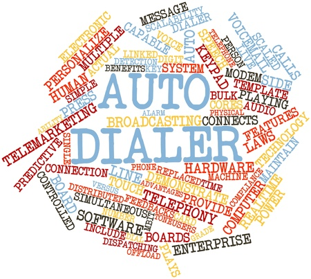 predictive: Abstract word cloud for Auto dialer with related tags and terms