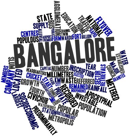 civic: Abstract word cloud for Bangalore with related tags and terms