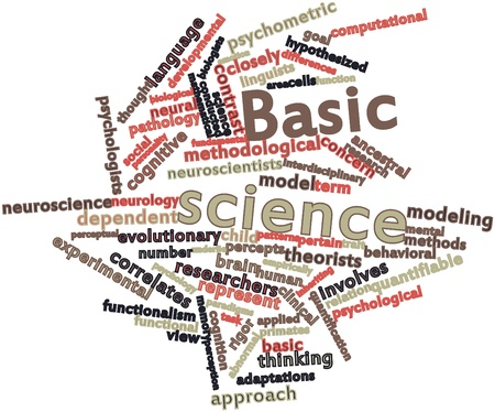 Abstract word cloud for Basic science with related tags and terms Stock Photo - 16617553