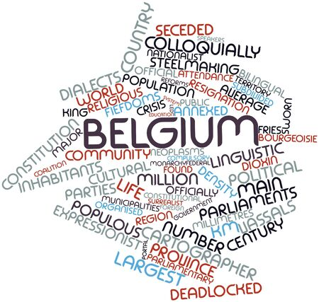 annexed: Abstract word cloud for Belgium with related tags and terms