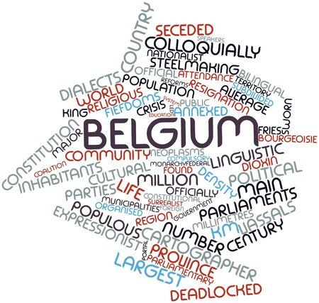 parliaments: Word cloud astratto per il Belgio con tag e termini correlati