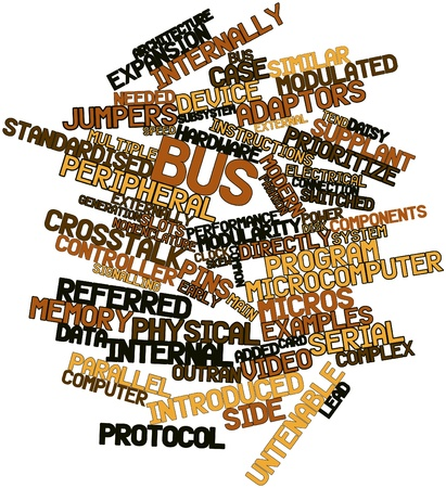 the local characteristics: Abstract word cloud for Bus with related tags and terms