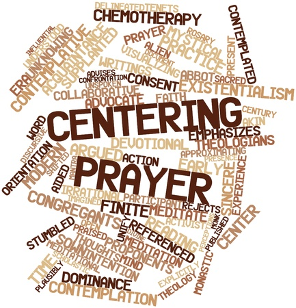 unknowing: Abstract word cloud for Centering prayer with related tags and terms