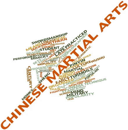 lineage: Abstract word cloud for Chinese martial arts with related tags and terms