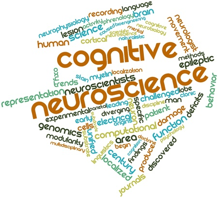 cognitive: Abstract word cloud for Cognitive neuroscience with related tags and terms